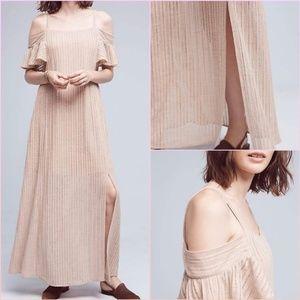 Anthropolgie Moon River Sahara Nude Maxi Dress NWT